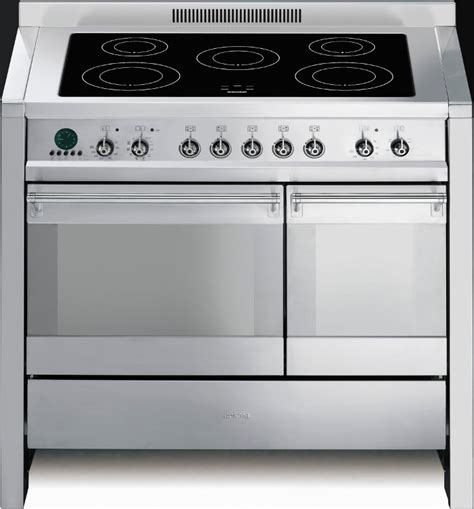 electric induction range cookers 100cm buy smeg a2pyid6 100cm electric induction range cooker a2pyid 6 stainless steel marks