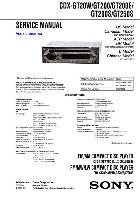 sony cdx gt610ui wiring diagram wiring diagram and