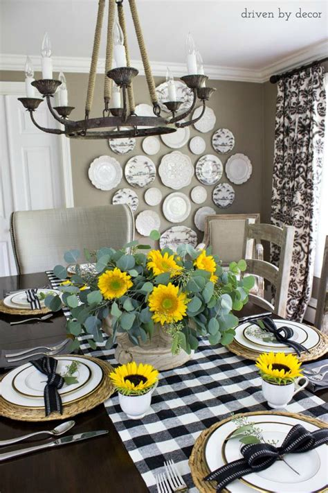 black and white buffalo check table runner my 2015 fall home tour driven by decor