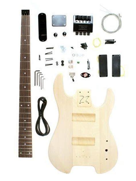 diy bass guitar kit stellah unfinished headless bass guitar kit project diy new bass guitars