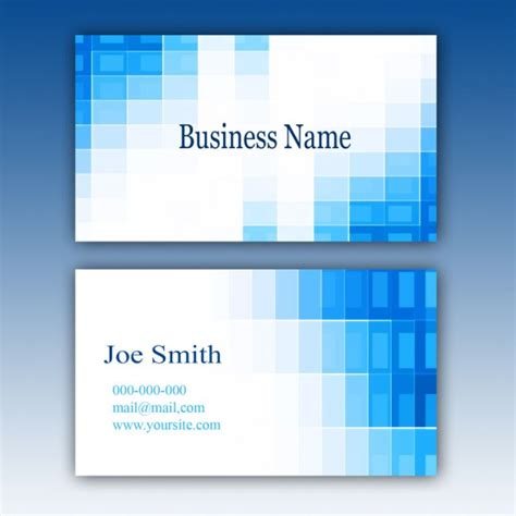 blue business card template psd file free download