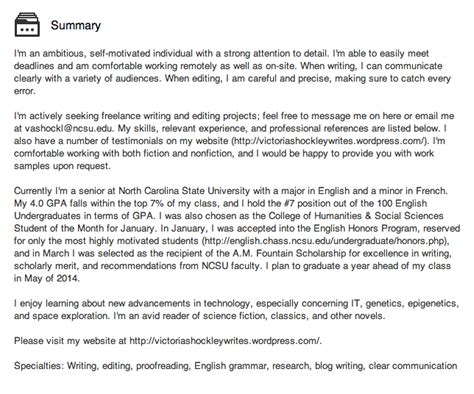 Linkedin Summary Exles For Mba Students by The Value Of Linkedin For College Students And Recent