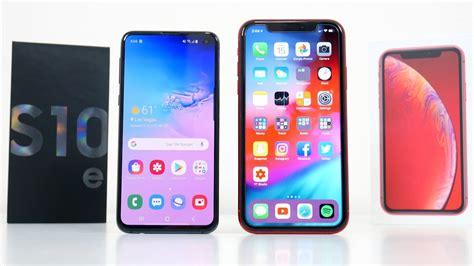 samsung galaxy se  iphone xr full comparison mobile