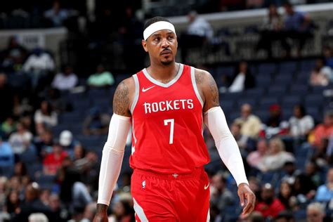 carmelo anthony    enjoy coming   bench