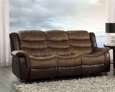 homelegance double reclining sofa double reclining sofa bunnell by homelegance el 9666 3