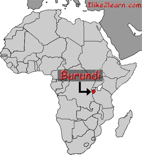 africa map burundi burundi