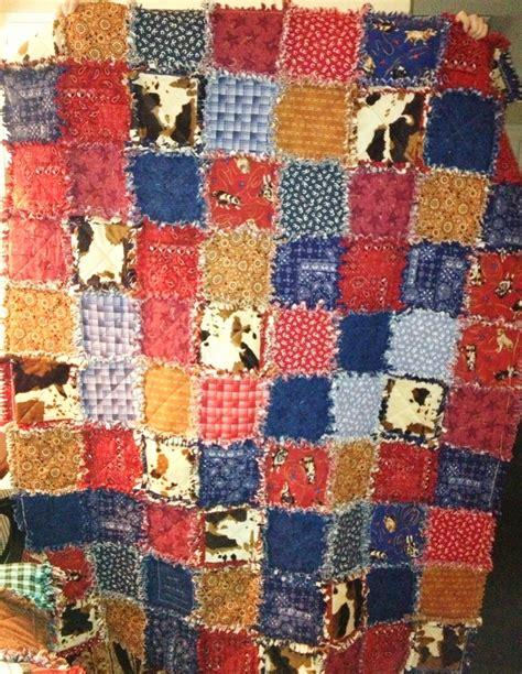 218 best rag quilt cowboy western images on