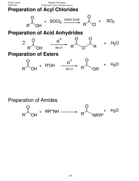 Mba Acyl by Carboxylic Acids Notes