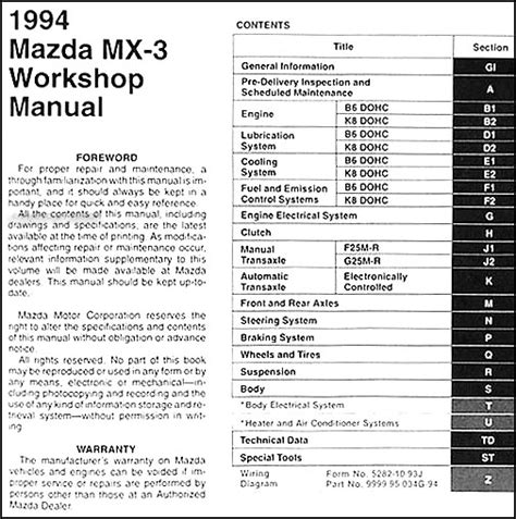 auto repair manual online 1994 mazda mx 6 electronic toll collection 1994 mazda mx 3 repair shop manual original