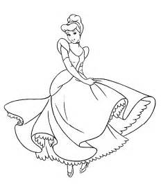 cinderella disney princess free printable coloring pages