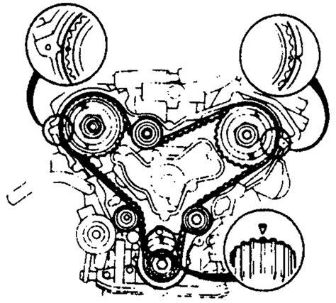 mazda mpv engine timing chain diagram installation
