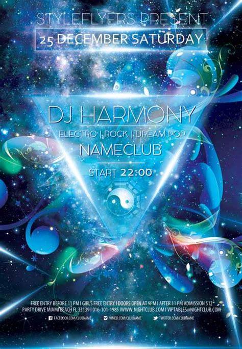 dj flyer template free dj harmony free flyer template free dj flyer