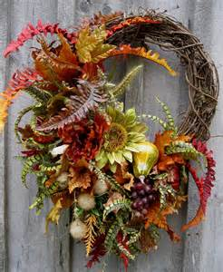 Grapevine Floral Design Home Decor The by Autumn Wreath Fall Floral Designer Wreaths Sunflowers
