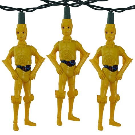 r2d2 string lights c3po light set sw9113