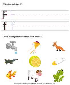 identify words that start with f worksheet turtle diary