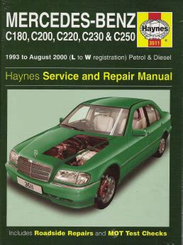 1993 2000 mercedes c class gas and diesel haynes repair manual