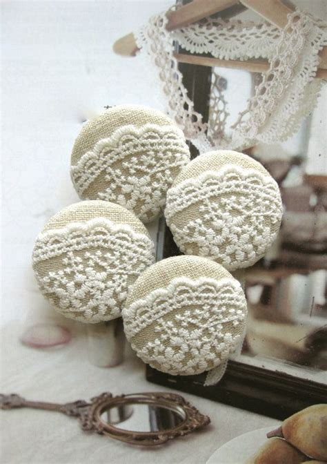 large upholstery buttons handmade fabric buttons large beige off white flower by
