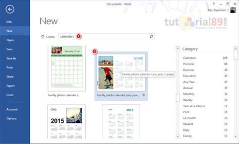 cara membuat layout kalender cara praktis membuat kalender di microsoft word tutorial89