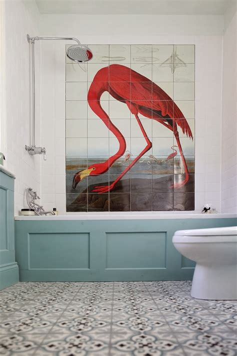 flamingos in bathroom to da loos the flamingo bathroom