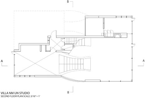 Architectual Plans villa nm by un studio case study ydalmi gomez