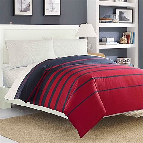 red reversible comforter nautica 174 dillon reversible comforter set in red navy bed