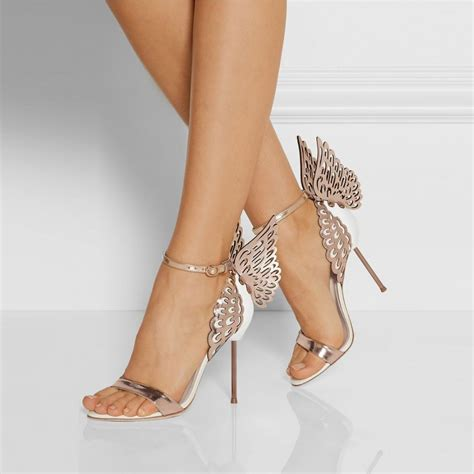 gorgeous high heels gorgeous winged high heels shoes gold metallic