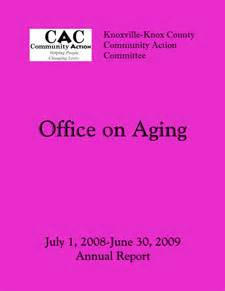 Office On Aging by Annual Reports 171 Knoxville County Community