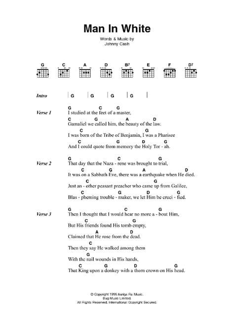 guitar tutorial johnny cash man in white by johnny cash guitar chords lyrics