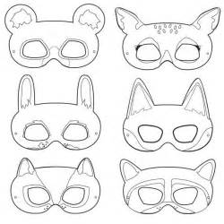 jungle animal mask templates 6 best images of free printable animal masks printable