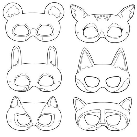 printable animal masks templates 10 images about printable coloring paper masks on