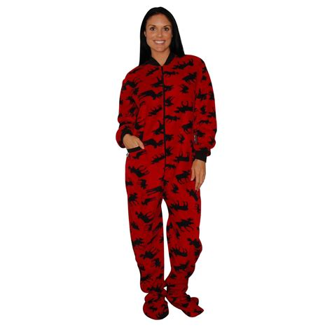 Comfortable Onesie by Lazy One Fleece Classic Moose Comfortable Onesie