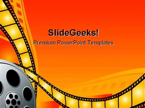 movie themed powerpoint template reboc info