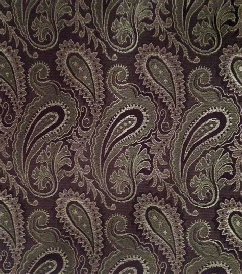 brown paisley upholstery fabric brocade fabric brocade brown paisley at joann com