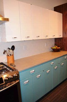sam has a great experience with powder coating her vintage metal kitchen cabinets steel kitchen cabinets furniture