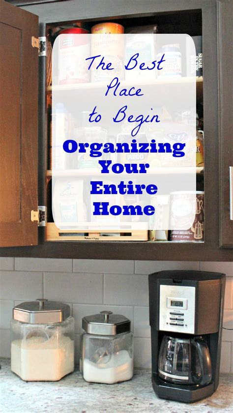 where to start organizing my house edventures with