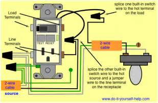 gfci outlet switch wiring diagrams do it yourself help