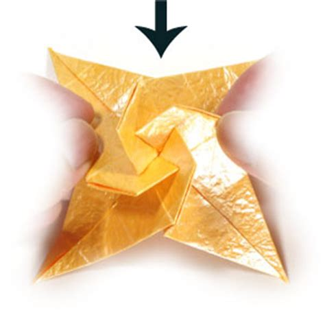 Four Pointed Origami - how to make a four pointed spiral origami paper page 15