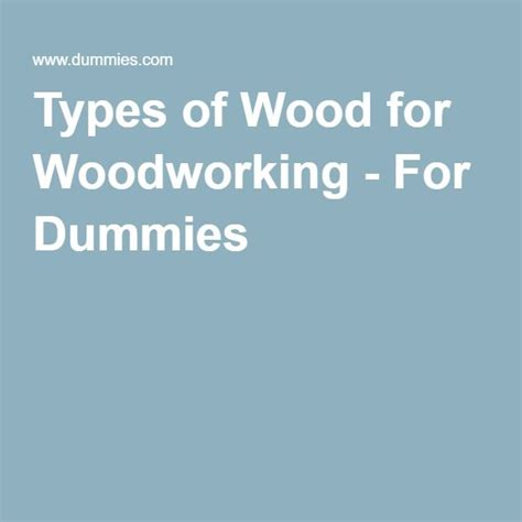 woodworking for dummies 25 best ideas about types of wood on woodwork