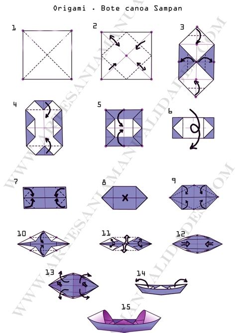 Who To Make Origami - origami canoa bote san paper craft artesania