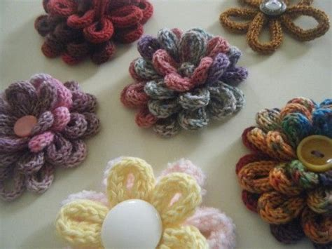 spool knitting projects beautiful knitting flowers loom knitting