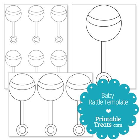 Baby Shower Sweepstake Template - printable baby rattle template printable treats com