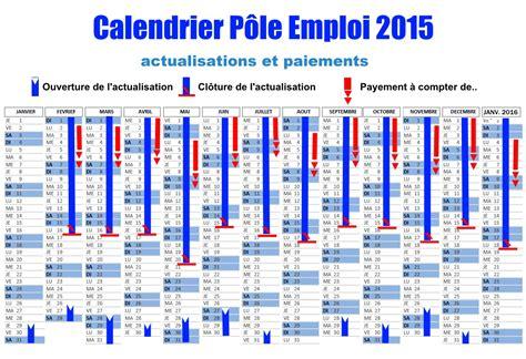 Calendrier D Actualisation Pôle Emploi 2016 Calendrier Assedic Actualisation Mensuelle 2015 Paiement