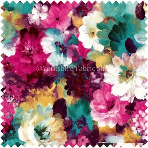 printable fabric uk flower floral pattern pink green print velvet upholstery