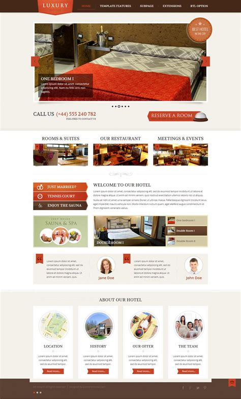 Theme Hotel Joomla | jm hotel responsive joomla template for hotels and