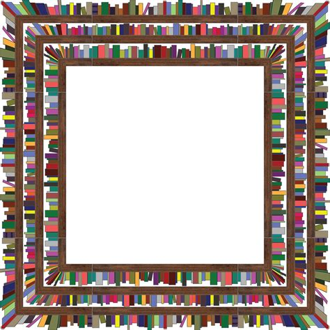 picture framing books clipart square bookshelves