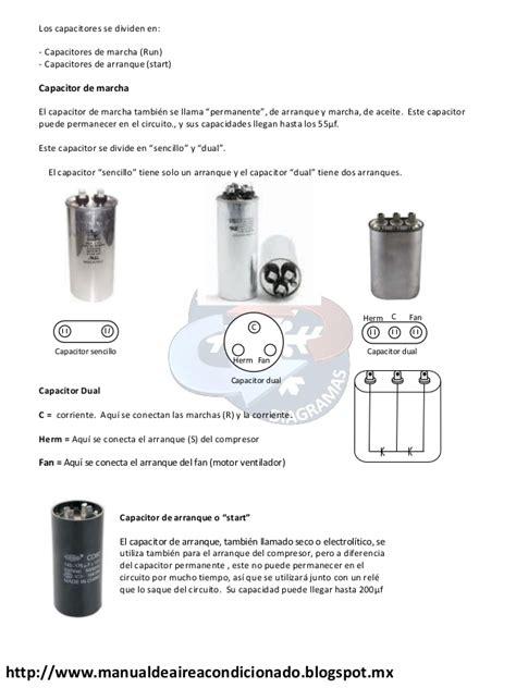 capacitor de arranque en refrigeracion manual de aire acondicionado manualesydiagramas