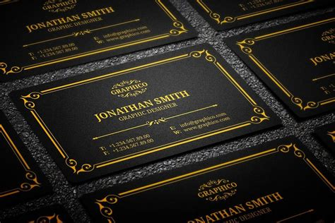 25 Black And Gold Business Card Templates Black And Gold Business Card Templates Free