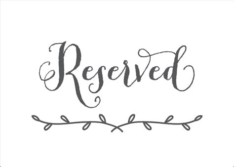 printable reserved signs printable reserved signs pictures to pin on