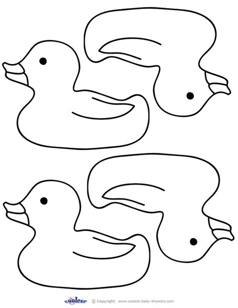 a rubber duck coloring pages