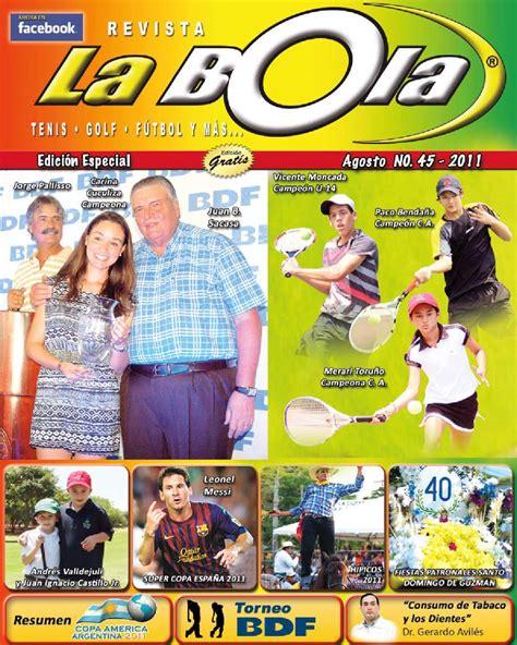 Bola Tenis Tip Junior Stage 3 Bola Junior Merah Isi 3 revista la bola ediccion 45 by tomas arguello chamorro issuu